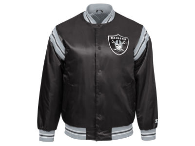 Oakland Raiders Starter NFL Men's The Enforcer Starter Satin Jacket