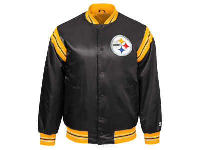 Pittsburgh Steelers Starter NFL Men's The Enforcer Satin Jacket