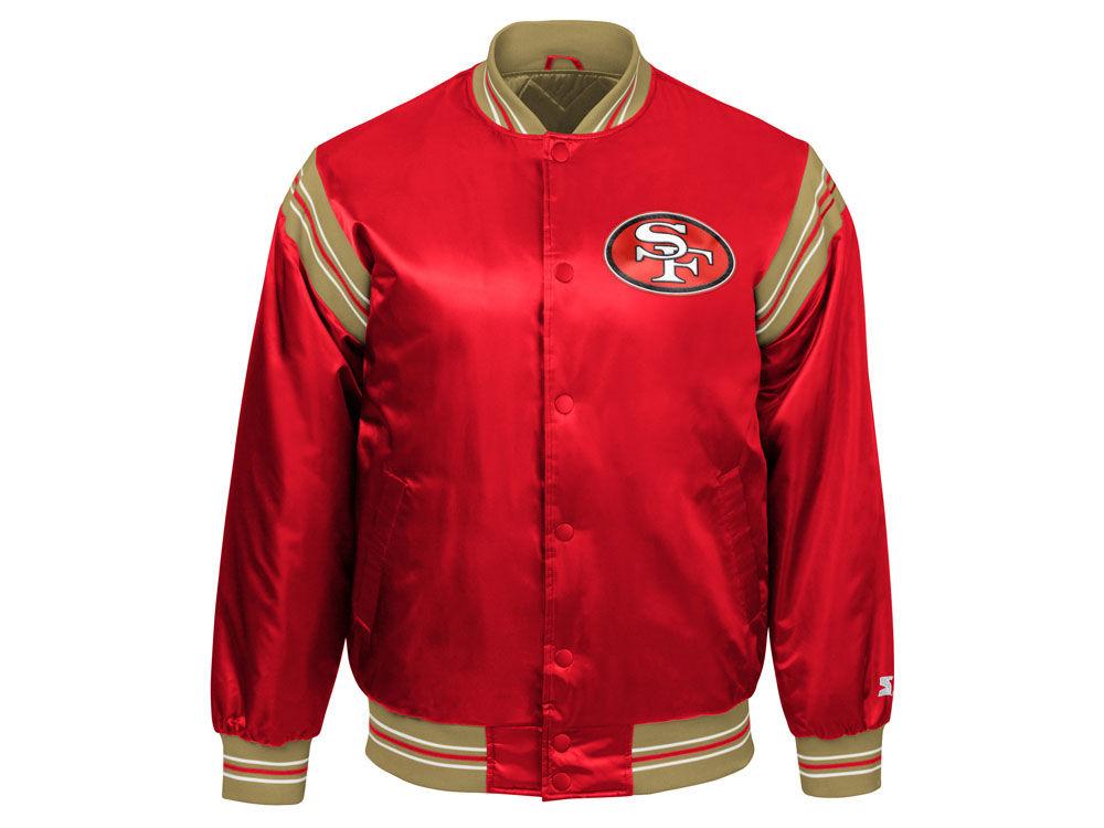 San Francisco 49ers Starter NFL Men s The Enforcer Satin Jacket ... 39e829ea4