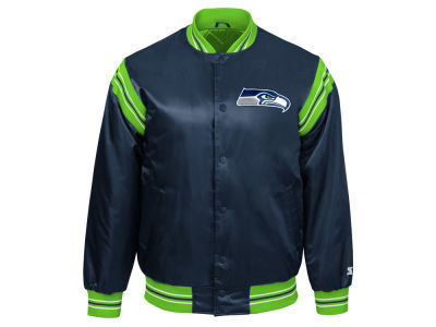 Seattle Seahawks Starter NFL Men's The Enforcer Satin Jacket