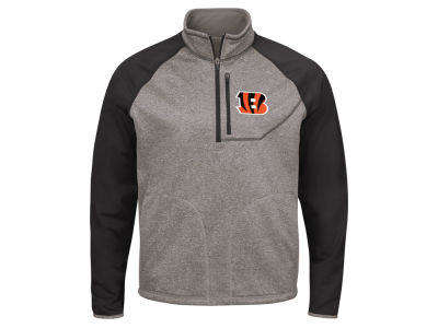 Cincinnati Bengals G-III Sports NFL Men's Mountain Trail Quarter Zip Pullover