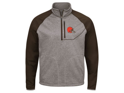Cleveland Browns G-III Sports NFL Men's Mountain Trail Quarter Zip Pullover