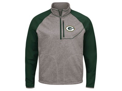 Green Bay Packers G-III Sports NFL Men's Mountain Trail Quarter Zip Pullover