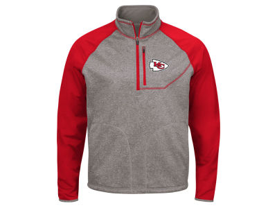 Kansas City Chiefs G-III Sports NFL Men's Mountain Trail Quarter Zip Pullover