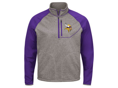 Minnesota Vikings G-III Sports NFL Men's Mountain Trail Quarter Zip Pullover