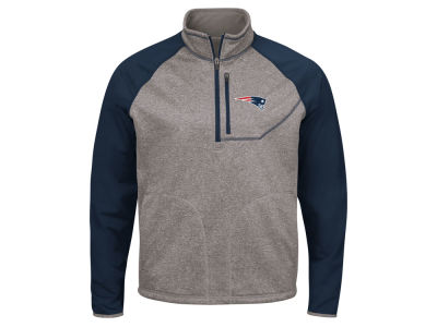 New England Patriots G-III Sports NFL Men's Mountain Trail Quarter Zip Pullover