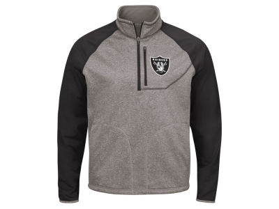 Oakland Raiders G-III Sports NFL Men's Mountain Trail Quarter Zip Pullover