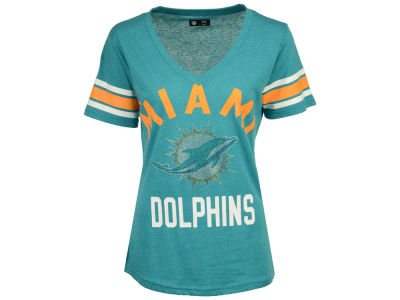 Miami Dolphins G-III Sports NFL Women's Big Game Rhinestone T-Shirt