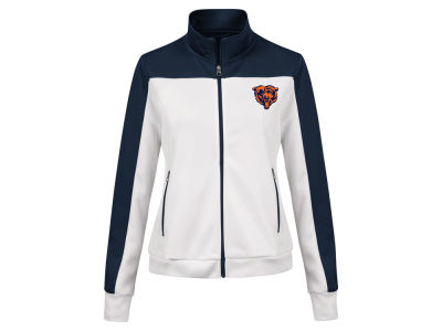 Chicago Bears G-III Sports NFL Women's PlayMaker Rhinestone Track Jacket