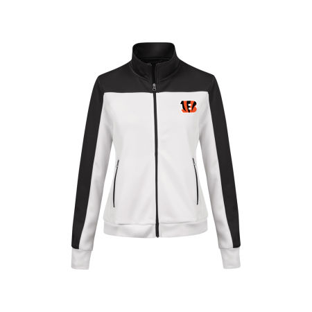 Cincinnati Bengals G-III Sports NFL Women's PlayMaker Rhinestone Track Jacket
