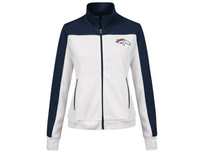 Denver Broncos G-III Sports NFL Women's PlayMaker Rhinestone Track Jacket