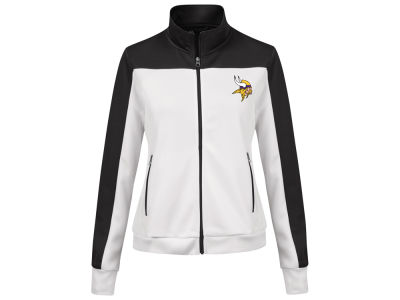 Minnesota Vikings G-III Sports NFL Women's PlayMaker Rhinestone Track Jacket