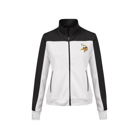 Minnesota Vikings G-III Sports NFL Women's PlayMaker Rhinestone Track Jacket