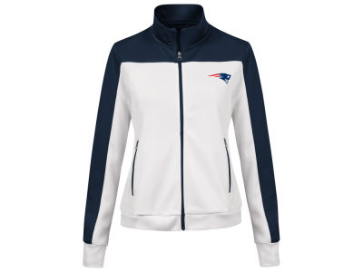 New England Patriots G-III Sports NFL Women's PlayMaker Rhinestone Track Jacket