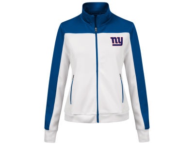 New York Giants G-III Sports NFL Women's PlayMaker Rhinestone Track Jacket