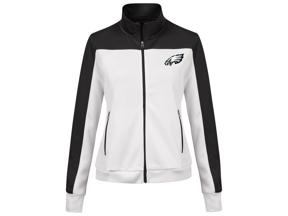 Philadelphia Eagles G Iii Sports Nfl Women S Playmaker Rhinestone Track Jacket