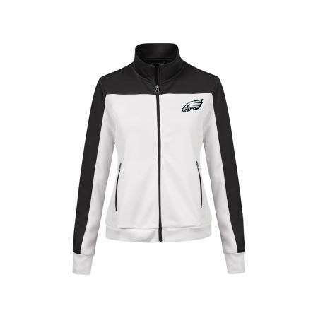 Philadelphia Eagles G-III Sports NFL Women's PlayMaker Rhinestone Track Jacket