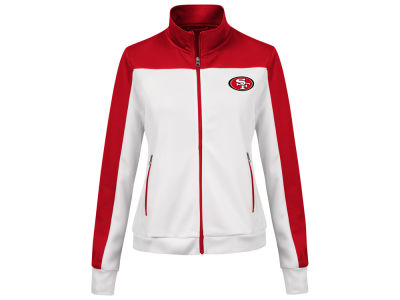 San Francisco 49ers G-III Sports NFL Women's PlayMaker Rhinestone Track Jacket