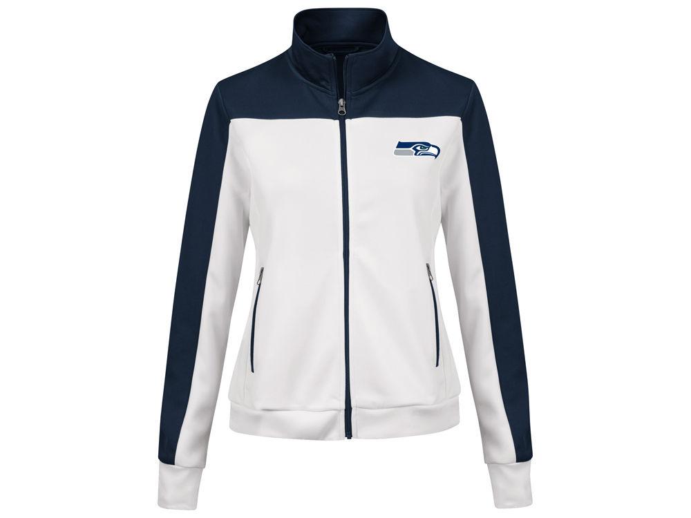 Seattle Seahawks G-III Sports NFL Women s PlayMaker Rhinestone Track Jacket   40ecb3c22