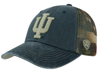 Indiana Hoosiers Top of the World NCAA Flagtacular Cap