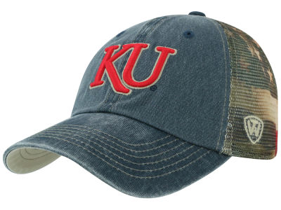 Kansas Jayhawks Top of the World NCAA Flagtacular Cap