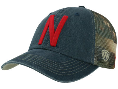 Nebraska Cornhuskers Top of the World NCAA Flagtacular Cap