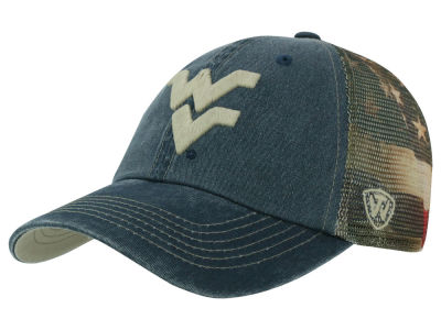 West Virginia Mountaineers Top of the World NCAA Flagtacular Cap