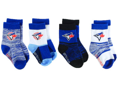 Toronto Blue Jays Toddler Crew Socks - 4pk
