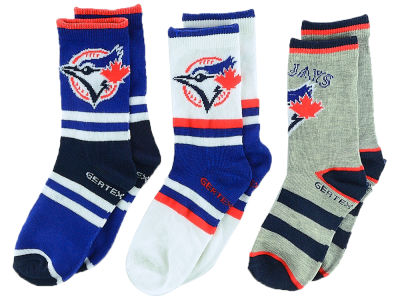 Toronto Blue Jays Kids Crew Socks - 3pk