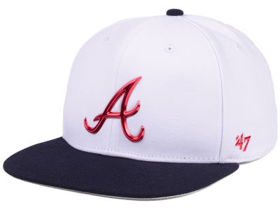 Atlanta Braves '47 MLB Firework CAPTAIN Cap