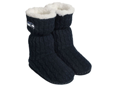 Seattle Seahawks Women's Knit Boot Slipper