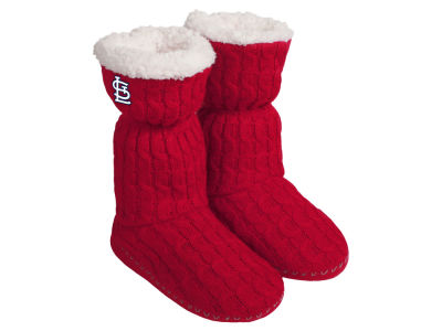 St. Louis Cardinals Women's Knit Boot Slipper