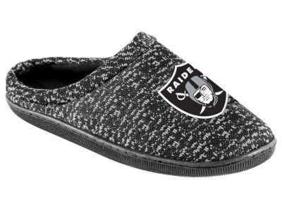 Oakland Raiders Poly Knit Cup Sole Boxed Slipper