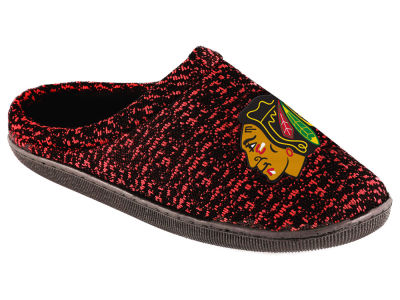 Chicago Blackhawks Poly Knit Cup Sole Boxed Slipper