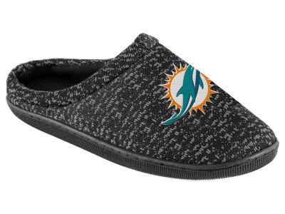 Miami Dolphins Poly Knit Cup Sole Boxed Slipper