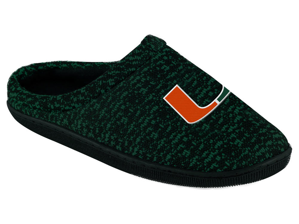 4a53f61db200b Miami Hurricanes Poly Knit Cup Sole Boxed Slipper