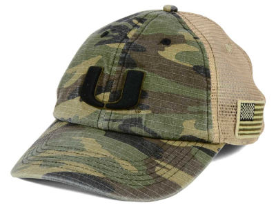 Miami Hurricanes Top of the World NCAA Declare Camo Cap