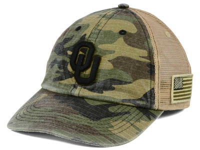 Oklahoma Sooners Top of the World NCAA Declare Camo Cap