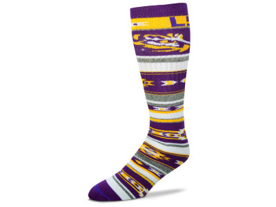 LSU Tigers For Bare Feet Women's Tailgater Socks