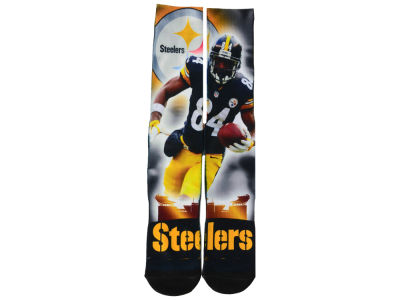 Pittsburgh Steelers Antonio Brown For Bare Feet NFL City Star Player Crew Socks