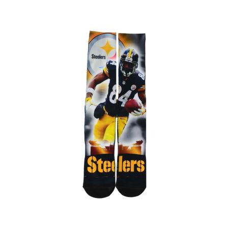 Pittsburgh Steelers Antonio Brown For Bare Feet NFL City Star Player Crew Socks