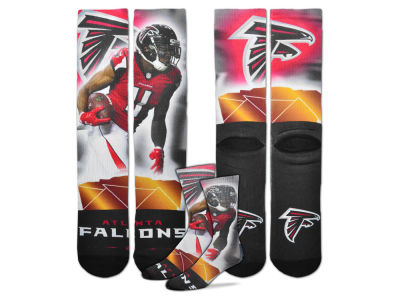 Atlanta Falcons Julio Jones For Bare Feet NFL City Star Player Crew Socks