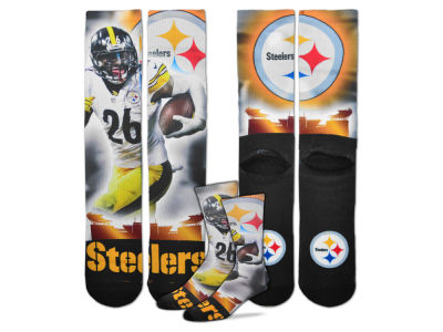 Pittsburgh Steelers Le'Veon Bell For Bare Feet NFL City Star Player Crew Socks