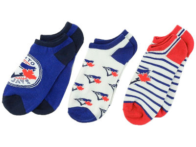 Toronto Blue Jays Women's No Show Socks - 3pk