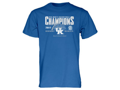 Kentucky Wildcats Blue 84 NCAA Men's SEC Regular Season Basketball Champ T-Shirt