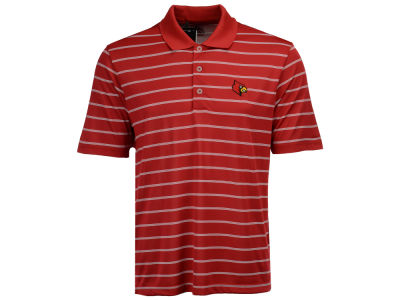Louisville Cardinals adidas NCAA Men's Performance Stripe Polo