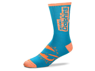 Miami Dolphins For Bare Feet Crush Socks