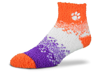 Clemson Tigers For Bare Feet Marquee Sleep Soft Socks