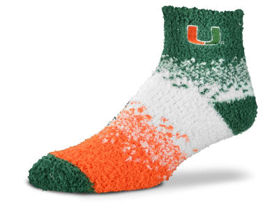 Miami Hurricanes For Bare Feet Marquee Sleep Soft Socks