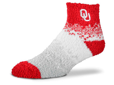 Oklahoma Sooners For Bare Feet Marquee Sleep Soft Socks